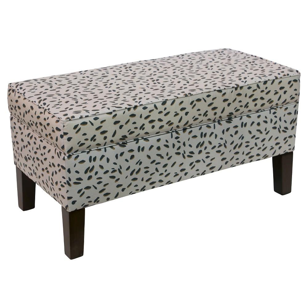 Mila Storage Bench - Neo Leo Teal Bronze - Cloth & Co, Brown