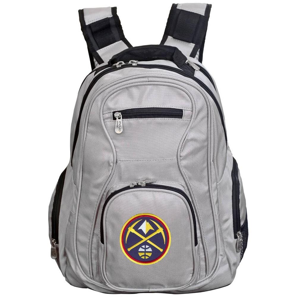Nba Denver Nuggets Gray Laptop Backpack