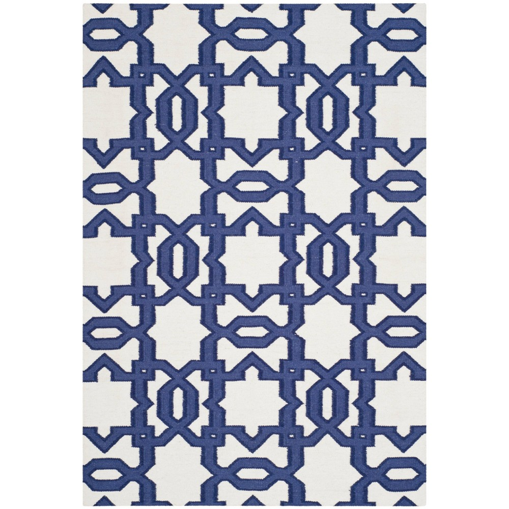Piper Dhurrie Area Rug - Ivory / Purple (4' X 6') - Safavieh, Ivory/Purple