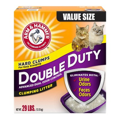 Arm & Hammer Double Duty Advanced Dual Odor Control Clumping Litter - 29lbs