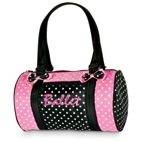 Danshuz Girls' Polka Dots Strap Handbag - Black - image 1 of 1