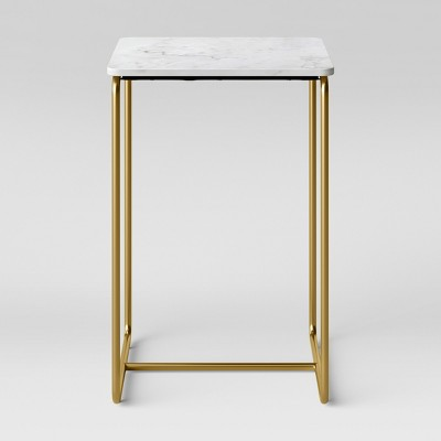Mogenson Square Marble Accent Table White   Project 62 by Project 62