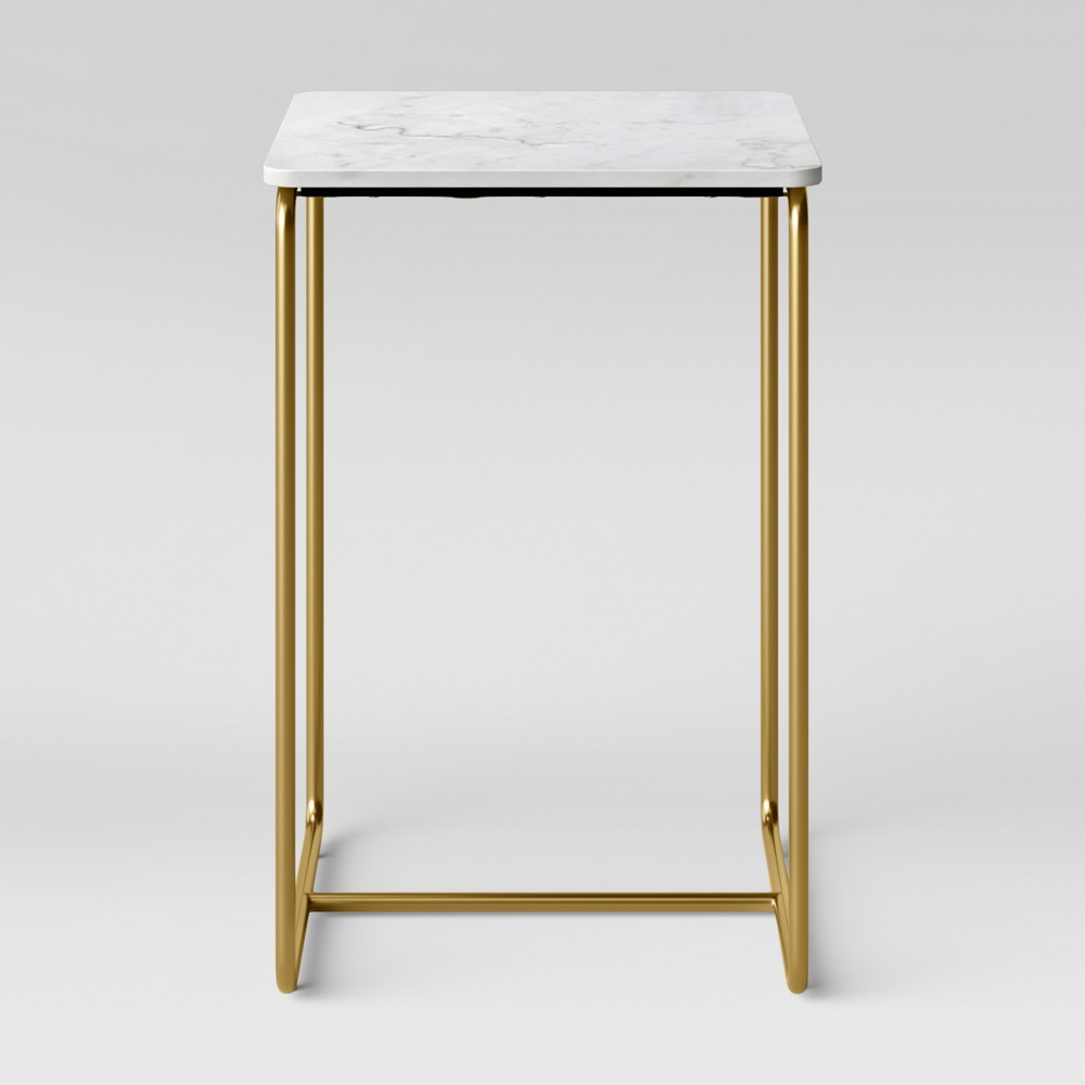 Mogenson Square Marble Accent Table White - Project 62 was $99.99 now $49.99 (50.0% off)