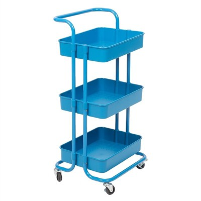 3 Tier Mobile Storage Caddy in Blue-Pemberly Row