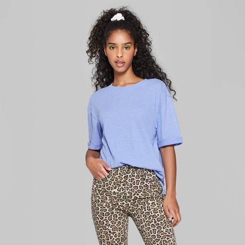 9f11e23125b Women's Oversized Short Sleeve Crewneck T-Shirt - Wild Fable™ Purple ...