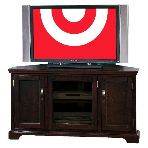 "46"" Riley Holliday Corner TV Stand Chocolate Cherry - Leick Home - image 1 of 7"