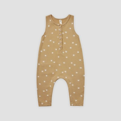 Q by Quincy Mae Baby Suns Brushed Jersey Romper - Honey Yellow 18-24M
