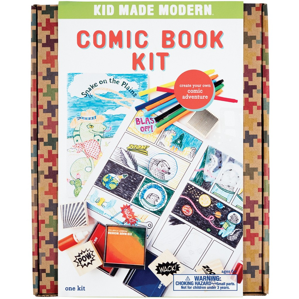 Kid Made Modern 25pc Comic Book Kit, Multi-Colored