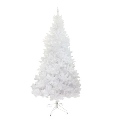 Northlight 9.5' Unlit Full Artificial Christmas Tree White Glimmer Iridescent Spruce
