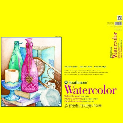 Strathmore 300 Series Watercolor Pad, 11 x 15 Inches, 140 lb, 12 Sheets