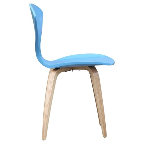 Wooden Side Dining Chair - Blue - Fine Mod Imports - image 1 of 2
