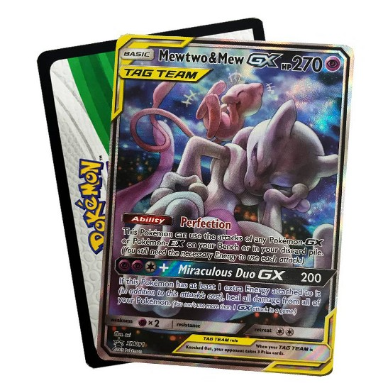 2019 Pokemon Trading Card Game Tag Team Fall Tin featuring Mewtwo & Mew image number null