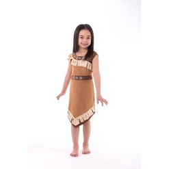 Little Adventures Girls' Princess Dress - Brown M, Size: Medium