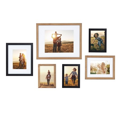 6pc Gallery Frame Box Set Rustic Brown - Kate & Laurel All Things Decor