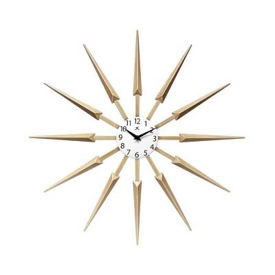 Infinity Instruments 15555WL Celeste Mid Century Modern 24 Inch Wall Clock, Tan