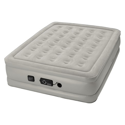 "Insta-Bed Raised 19"" Queen Mattress with Never Flat Pump - Gray - image 1 of 4"