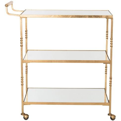 Cleopatra Bar Cart - Gold - Safavieh® - image 1 of 4