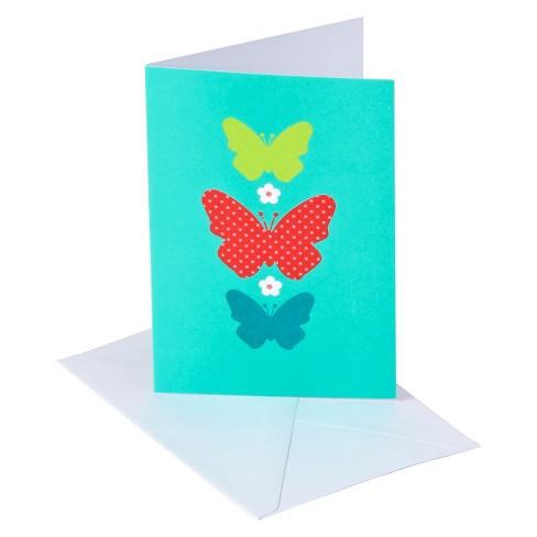 Blank Note 10ct 3 Butterflies Teal - Spritz™ - image 1 of 1