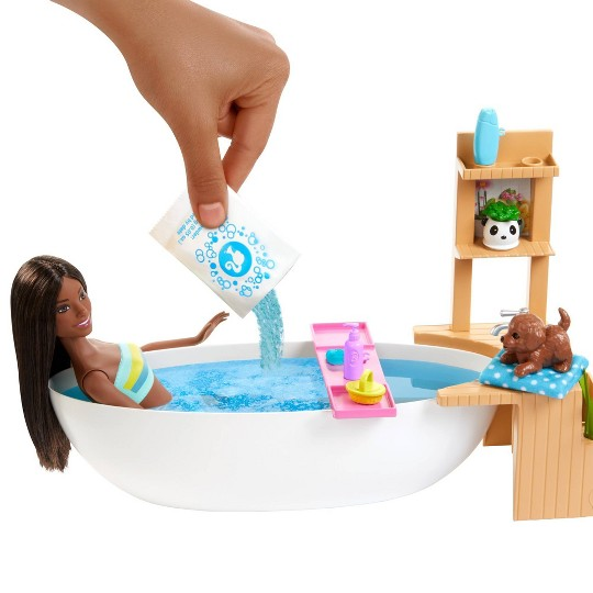 Barbie Fizzy Bath Brunette Doll and Playset image number null
