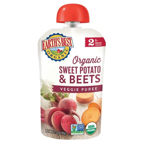 earth s best baby food pouch sweet potato beets 3 5oz 12pk