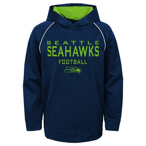 4185db69 Seattle Seahawks Boys' In the Game Poly Embossed Hoodie S