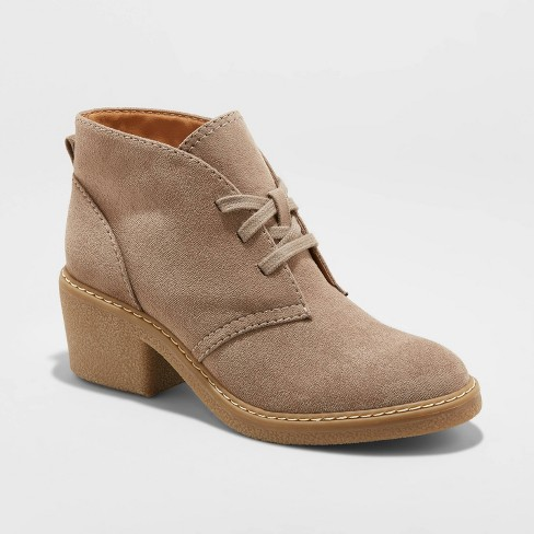 Women's Lucia Microsuede Heeled Lace Up Bootie - Universal Thread™ - image 1 of 3