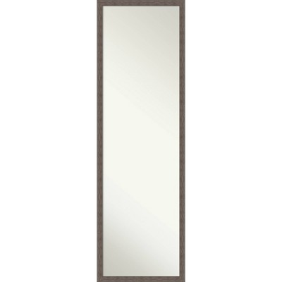 "16"" x 50"" Hera Brushed Framed Full Length On the Door Mirror Bronze- Amanti Art"