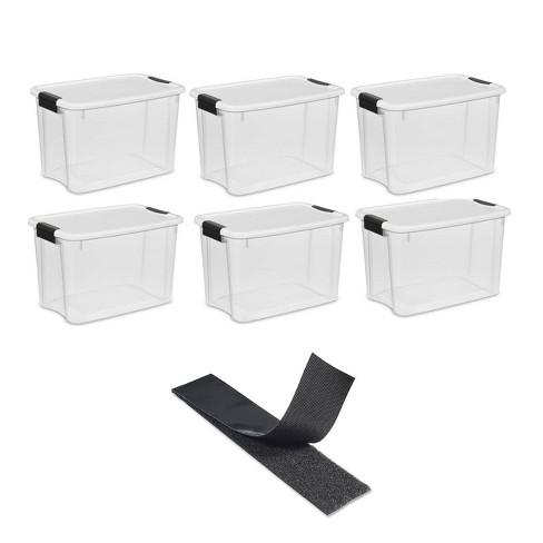 Sterilite 30 Quart Storage w/ Lid (6 Pack) Bundled with VELCRO® Brand Roll - image 1 of 4