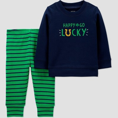 Baby Boys' 2pc St. Patrick's Day 'Happy' Top and Bottom Set - Just One You® made by carter's Green Newborn