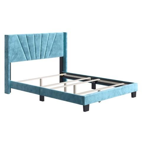 Ariana Velvet Upholstered Platform Bed Frame - Eco Dream - image 1 of 4