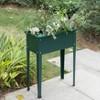 Gardenised Green Freestanding Raised Garden Bed Rectangular Flower Planter - image 2 of 4