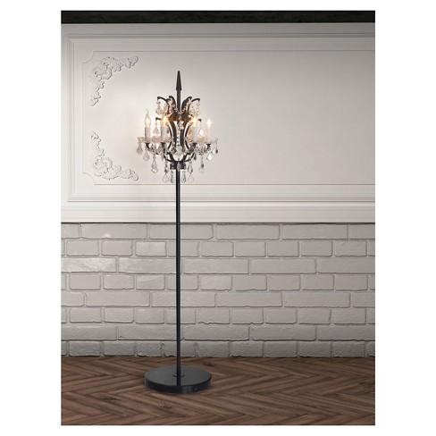 Clic Crystal And Bronze 70 Candelabra Chandelier Floor Lamp Zm Home Only Target