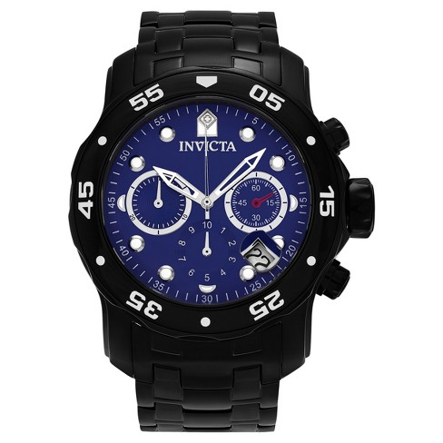 Men's Invicta 80077 Pro Diver Ion-Plated Stainless Steel Mother of Pearl Dial Link Watch - Black - image 1 of 3