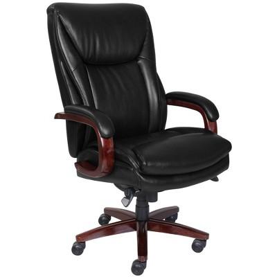 Big and Tall Edmonton Executive Bonded Leather Office Chair Black - La-Z-Boy