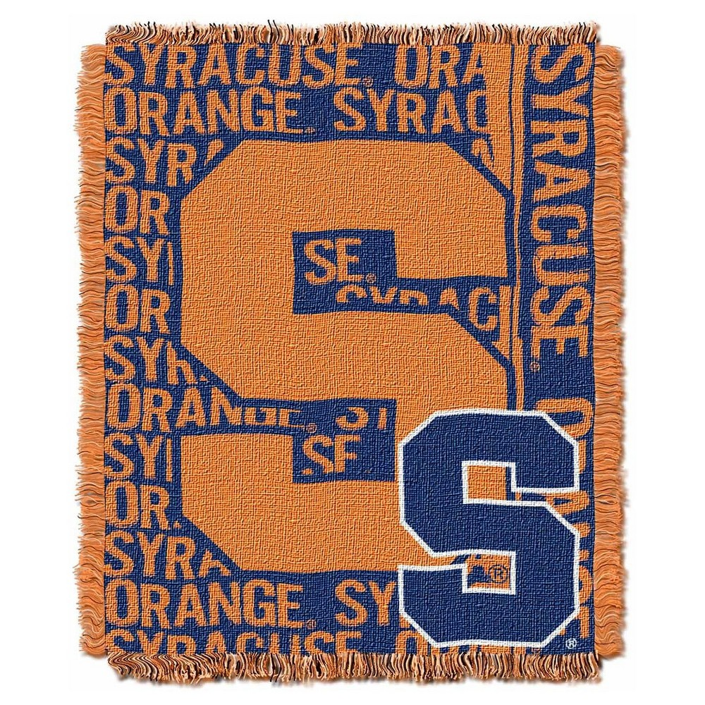 NCAA Triple Woven Throw Syracuse Orange 48X60 Inches
