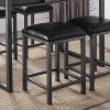 Set of 2 Simon Cushioned Metal Barstool Gray - miBasics - image 3 of 4