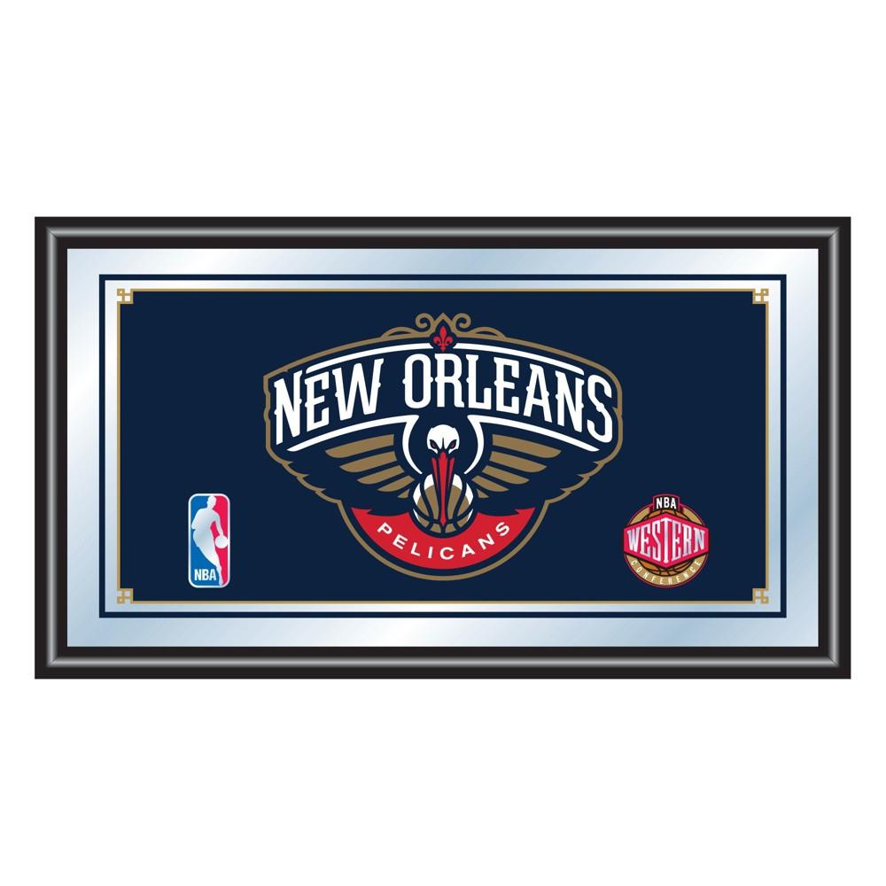 Nba New Orleans Pelicans Team Logo Wall Mirror