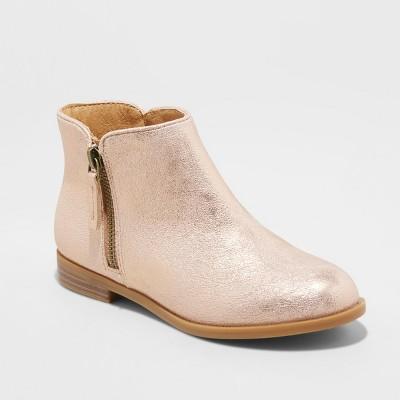 71b76294b917 Girls  Jani Metallic Ankle Fashion Boots – Cat   Jack™ Rose Gold 3 ...