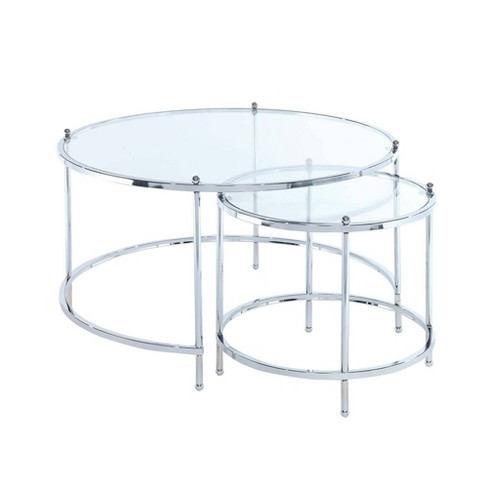 Royal Crest Nesting Round Coffee Table Chrome Breighton Home Target