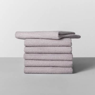 6pk Terry Dishcloth Light Gray - Made By Design™