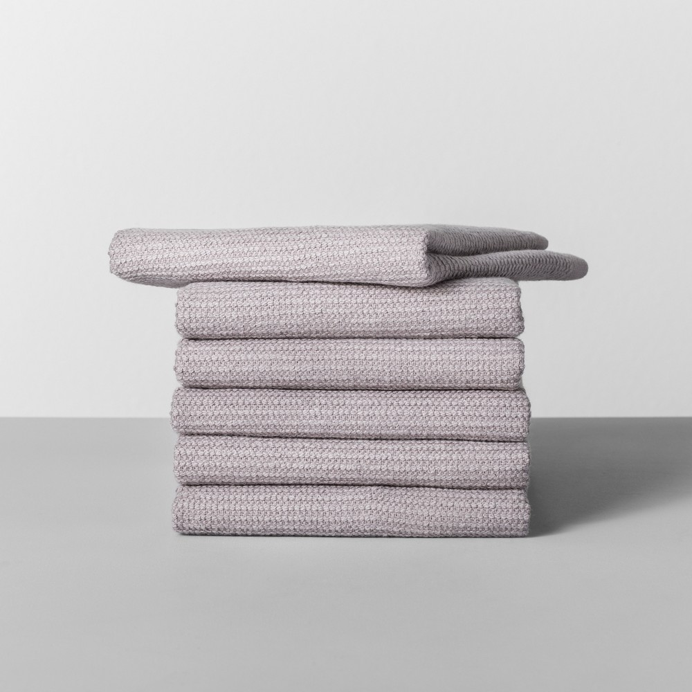 Image of 6pk Terry Dishcloth Light Gray - Made By Design