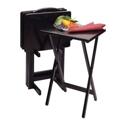 Alex 5pc Snack Table Set - Black - Winsome