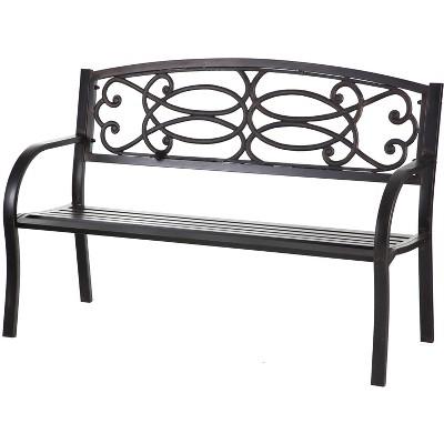 Evergreen Metal Garden Bench