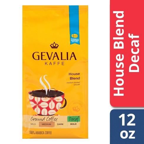 Gevalia House Blend Medium Dark Roast Ground Coffee - Decaf - 12oz - image 1 of 4