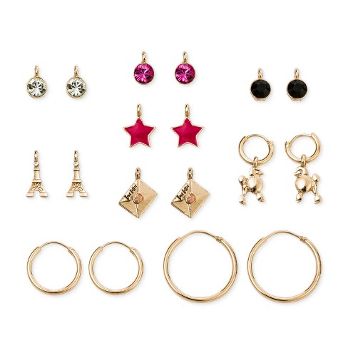 Girls' Charm Mix & Match Paris Earrings - Cat & Jack™ One Size - image 1 of 1