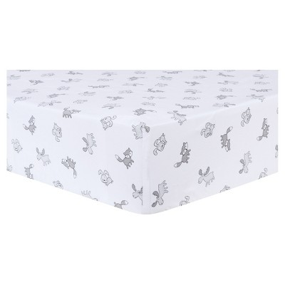 Trend Lab Fitted Crib Sheet - Aztec Forest