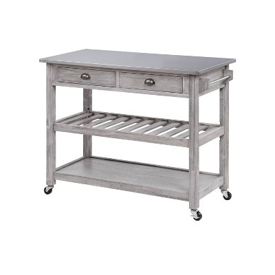 Sonoma Kitchen Cart with Stainless Steel Top  - Boraam