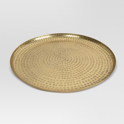 Hammered Tray - Gold - Threshold™