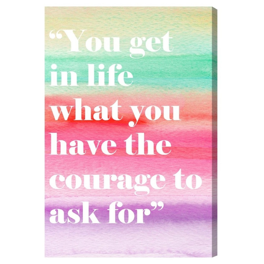 "Image of ""Oliver Gal Unframed Wall """"The Courage"""" Canvas Art (24x16), Multi-Colored"""