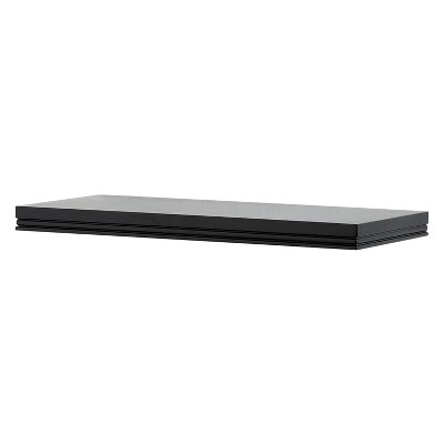 "36"" x 8"" Modern Wall Shelf Black - InPlace"